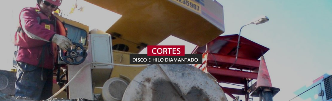 cortes disco e hilo diamantado